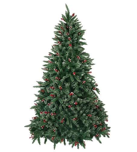 Luckyermore 7ft Christmas Tree Snow Flocked With Red Berry
