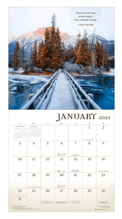Wanderlust 2021 Wall Calendar – Trekking The Road Less Traveled